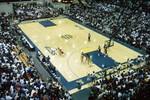 South Dakota State University 1995 Jackrabbits women's basketball team during a game against Denver