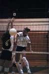 South Dakota State University 1997 Jackrabbits women's volleyball team in a game against UNC