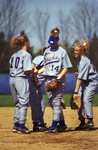 South Dakota State University 1999-2000 Jackrabbits softball team during a game against Southwest Minnesota State