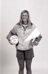 South Dakota State University 1999-2000 Jackrabbits volleyball team middle hitter, Liz Force