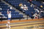 South Dakota State University 1999-2000 Jackrabbits volleyball team during a game