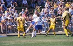 South Dakota State University 2000 Jackrabbits women's soccer team in their inaugural game against Southwest State by South Dakota State University