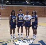 South Dakota State University 1991 women's basketball team players with coach