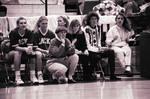 South Dakota State University 1995 Jackrabbits women's basketball team in a game against USD