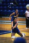 South Dakota State University 2000-2001 Jackrabbits women's volleyball team in a game