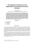 Development of a Software for the Optimization of Mechanical Structural Elements