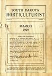 South Dakota Horticulturist, March 1929