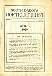 South Dakota Horticulturist, April 1929