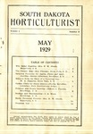 South Dakota Horticulturist, May 1929