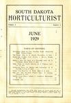 South Dakota Horticulturist, June 1929