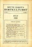 South Dakota Horticulturist, July 1929
