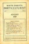 South Dakota Horticulturist, August 1929