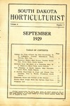 South Dakota Horticulturist, September 1929