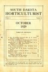 South Dakota Horticulturist, October 1929