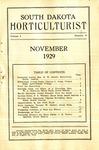 South Dakota Horticulturist, November 1929