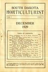 South Dakota Horticulturist, December 1929