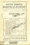 South Dakota Horticulturist, February 1930