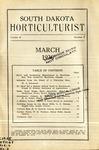 South Dakota Horticulturist, March 1930