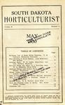 South Dakota Horticulturist, May 1930
