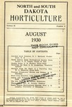 North and South Dakota Horticulture, August 1930