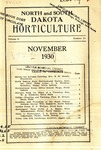 North and South Dakota Horticulture, November 1930