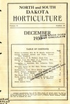 North and South Dakota Horticulture, December 1930