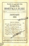 North and South Dakota Horticulture, January 1931