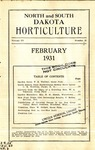 North and South Dakota Horticulture, February 1931