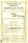 North and South Dakota Horticulture, April 1931