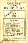 North and South Dakota Horticulture, July 1931