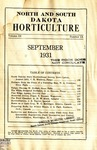 North and South Dakota Horticulture, September 1931