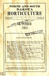 North and South Dakota Horticulture, October 1931