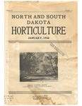 North and South Dakota Horticulture, January 1932