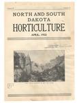 North and South Dakota Horticulture, April 1932