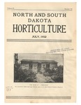 North and South Dakota Horticulture, July 1932