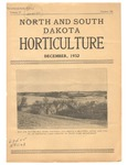 North and South Dakota Horticulture, December 1932