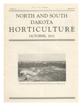 North and South Dakota Horticulture, October 1933