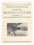North and South Dakota Horticulture, December 1933