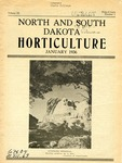 North and South Dakota Horticulture, January 1936