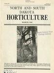North and South Dakota Horticulture, March 1938
