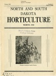 North and South Dakota Horticulture, March 1940