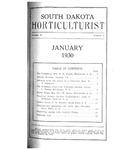 South Dakota Horticulturist, January 1930