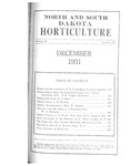 North and South Dakota Horticulture, December 1931