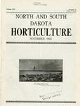 North and South Dakota Horticulture, November 1943