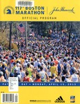 117th Boston Marathon Official Program: Patriots' Day, Monday, April 15, 2013
