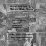 Butte County, SD Air Photos (1954 Part D)