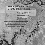 Meade County, SD Air Photos (1954 Part G)