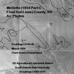 Mellette County, SD Air Photos (1954 Part C - Final Soil Lines)