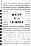Stay for Lunch