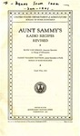 Aunt Sammy's Radio Recipes Revised by Ruth Van Deman and Fanny Walker Yeatmen